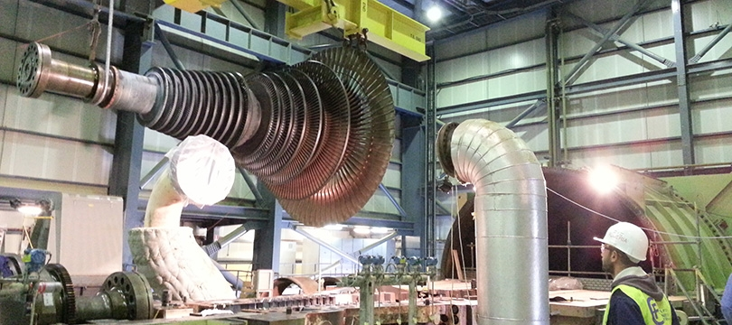 Hadjret En Nouss Power Plant 1200 MW. Modification Gaz turbine, Compressor & Steam turbine